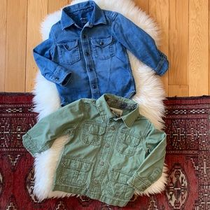 Bundle Gap Chambray Shirt & Carters Spring Jacket